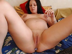mind-blowing pregnant chick