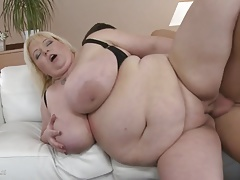 Large chesty mother Halina..
