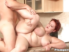 Redhead plus-size titfucked..