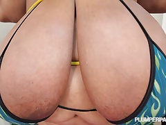 SSBBW Cotton Candi Works Out..