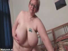 Ginormous mature dame gets..